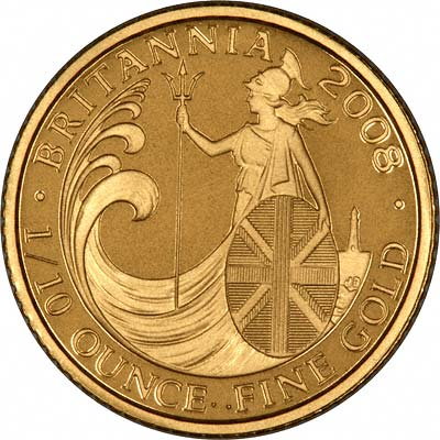 Reverse of Tenth Ounce Gold Britannia