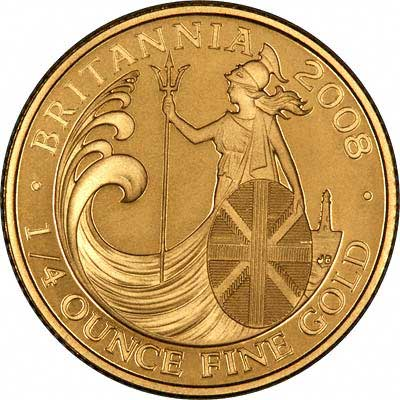 Reverse of Quarter Ounce Gold Britannia