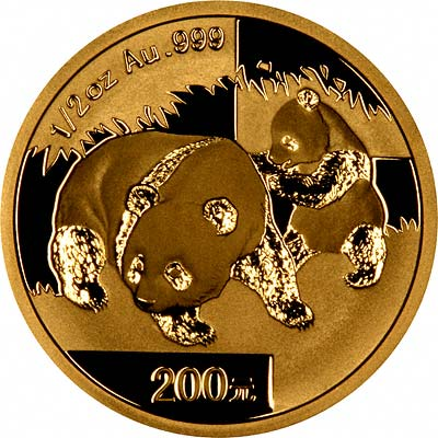 Reverse Design of a 2008 Chinese Half Ounce Gold Panda