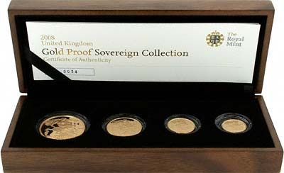 2008 Gold Sovereign 4 Coin Set
