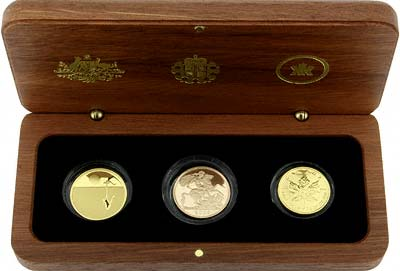 'Icons of the Commonwealth' Gold Coin Collection in its Wooden Box