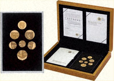 2008 British Gold 'Jig-Saw' Proof Coin Collection in Box