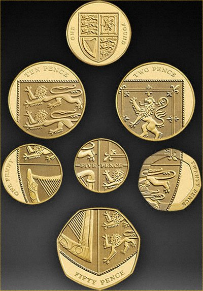 2008 British Gold 'Jig-Saw' Proof Coin Collection in Case