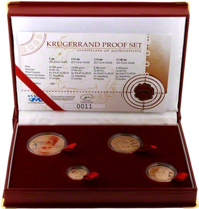2008 South African Proof Krugerrand 4 Coin Set