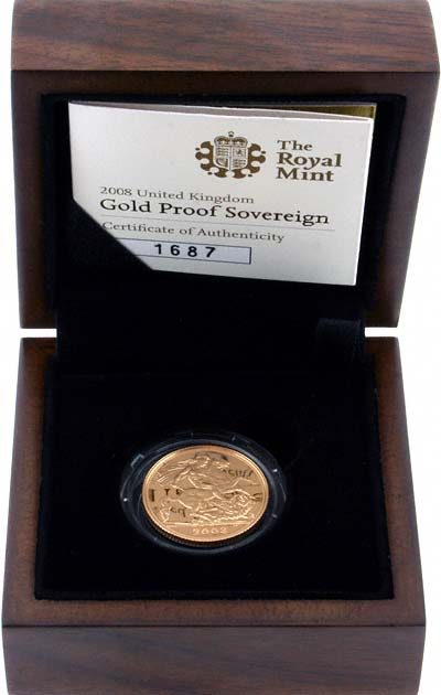 2008 Proof Sovereign in Presentation Box
