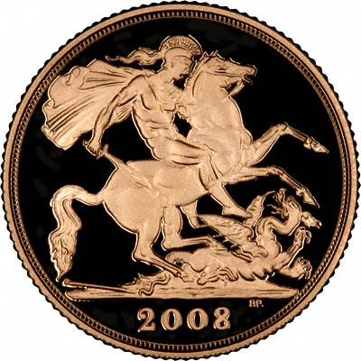 Reverse of 2008 Half Sovereign
