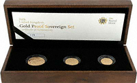 British 3 Coin Gold Sovereign Sets For Sale