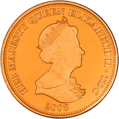 Obverse of 2008 Gold Proof Guinea