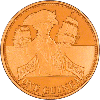 Reverse of 2008 Gold Proof Guinea