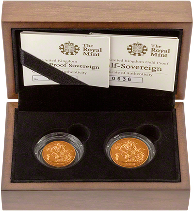 2008 Two Coin Gold Proof Sovereign Set in Presentation Box