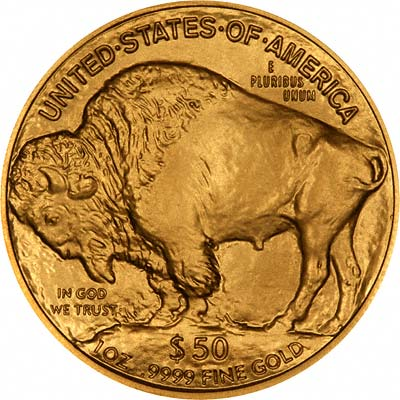 Reverse of 2008 US Gold Buffalo