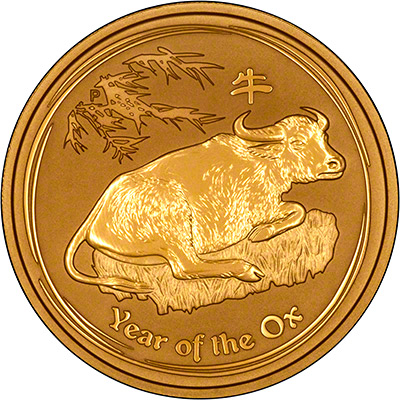 Reverse of a 2009 Australian Year of the Ox Gold Bullion Coin