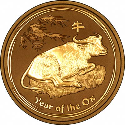 Reverse of One Kilo Gold Year of the Ox Coin