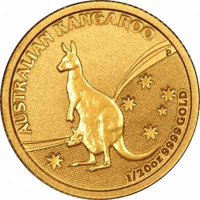 Reverse of Year 2009 Twentieth Ounce Gold Nugget
