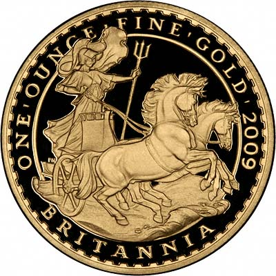Reverse of 2008 Gold Proof Britannia