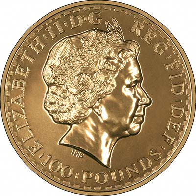 Obverse of 2009 One Ounce Gold Bullion Britannia