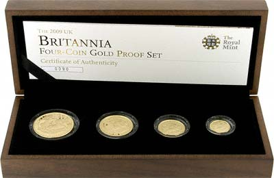 2009 Britannia Four Coin Proof Set in Box