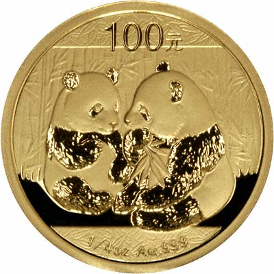 Reverse of 2009 Chinese Quarter Ounce Gold Panda