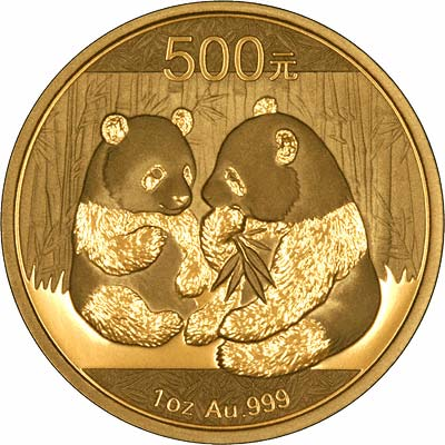 Reverse of 2009 Chinese One Ounce Gold Panda