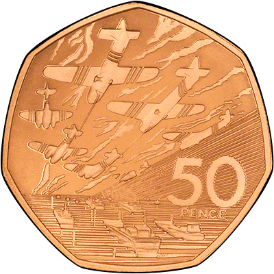 Reverse of 1994 Gold Proof Fifty Pence