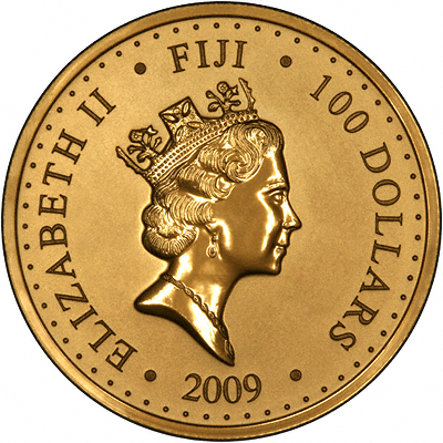 Reverse of 2009 Fiji Pacific Gold Sovereign