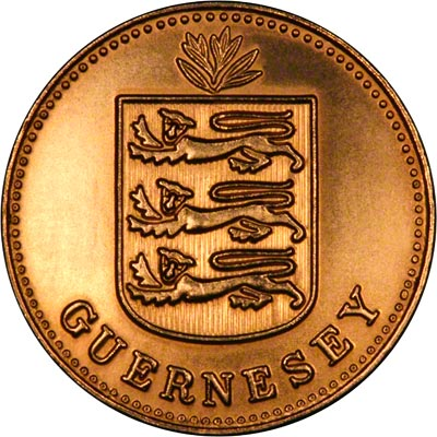 Obverse of Guernsey Gold 1 Double of 2009