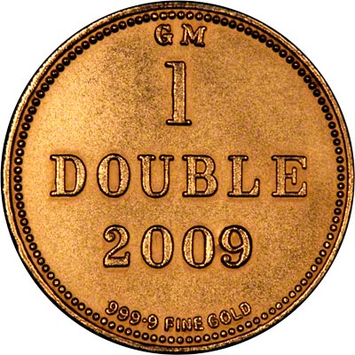 Reverse of Guernsey Gold 1 Double of 2009