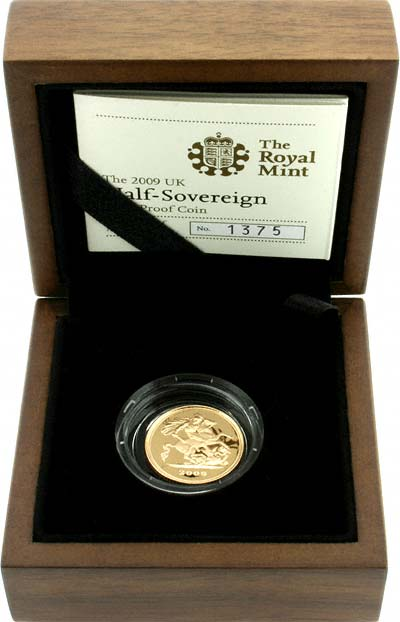 2009 Proof Half Sovereign in Presentation Box