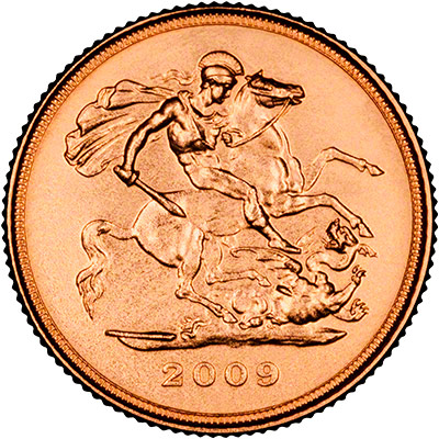 Reverse of 2009 Half Sovereign
