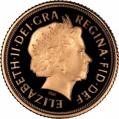 Obverse of 2009 Proof Half Sovereign