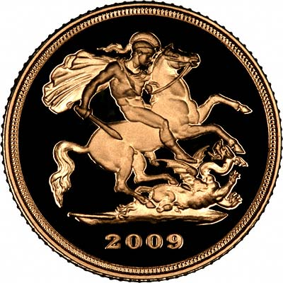 Reverse of 2009 Uncirculated Half Sovereign
