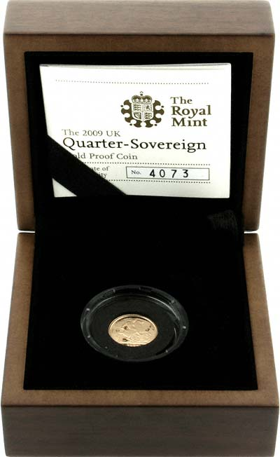 2009 Quarter Proof Sovereign in Presentation Box