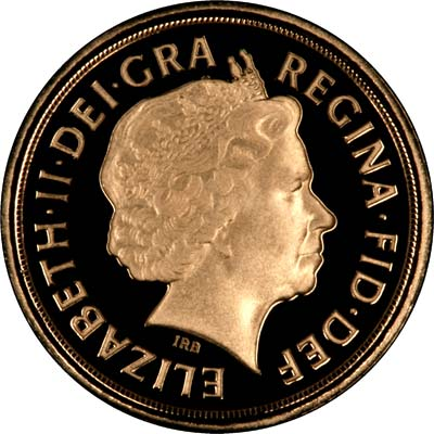 Obverse of 2009 Proof Quarter Sovereign