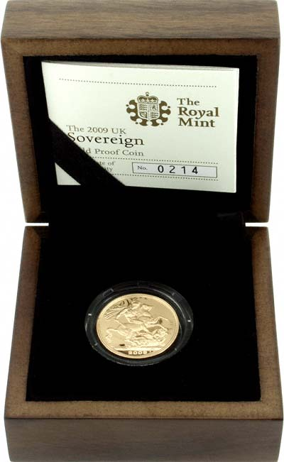 2009 Proof Sovereign in Presentation Box