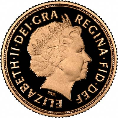 Obverse of the 2009 Sovereign