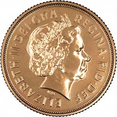 Obverse of 2009 Sovereign