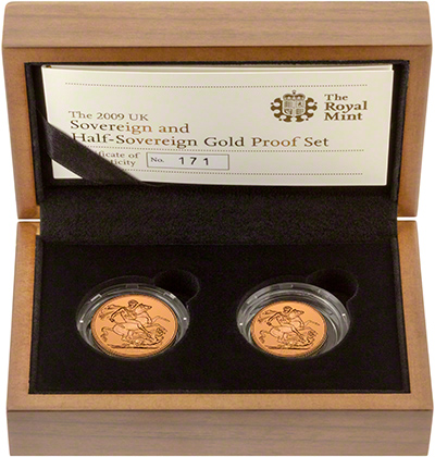 2009 Two Coin Gold Proof Sovereign Set in Presentation Box