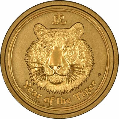 2010 One Ounce Gold Chinese Lunar Calendar Tiger Coin