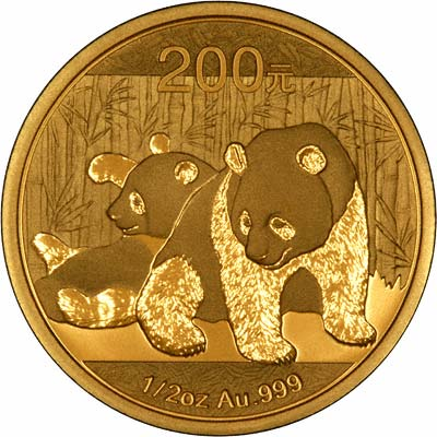 Reverse of 2010 Chinese Half Ounce Gold Panda