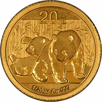 Reverse of Twentieth Ounce Gold Panda
