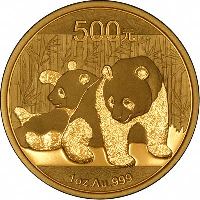 Reverse of 2010 Chinese One Ounce Gold Panda