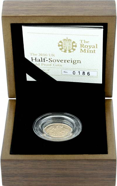 2010 Proof Half Sovereign in Presentation Box