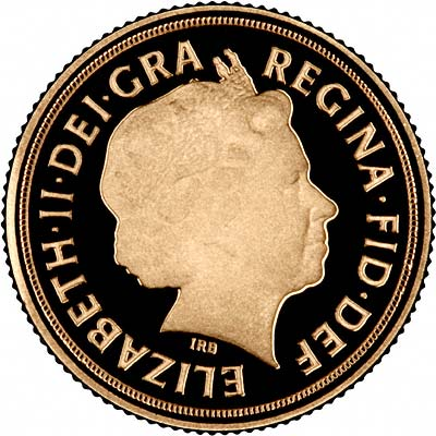 Obverse of 2010 Proof Quarter Sovereign