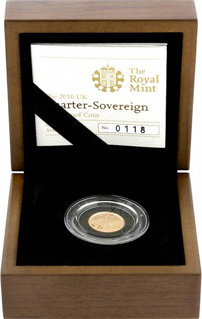 2010 Proof Quarter Sovereign in Presentation Box