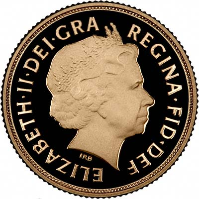 Obverse of the 2010 Proof Sovereign