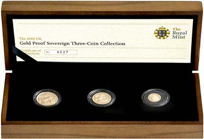 2010 Gold Proof Standard Three Coin Set in Case
