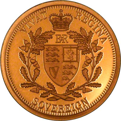 Reverse of 2010 Gold Proof Sovereign