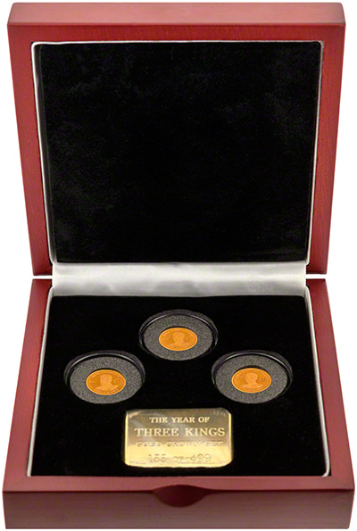 2010 Gold One Crown Set in Presentation Box