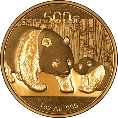 Reverse of 2011 Chinese One Ounce Gold Panda