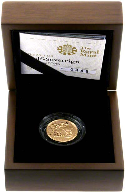 2011 Proof Half Sovereign in Presentation Box